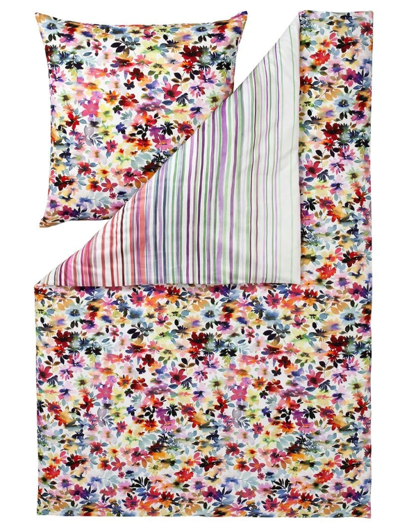 Estella Mako-Satin Bettwäsche Daisy multicolor